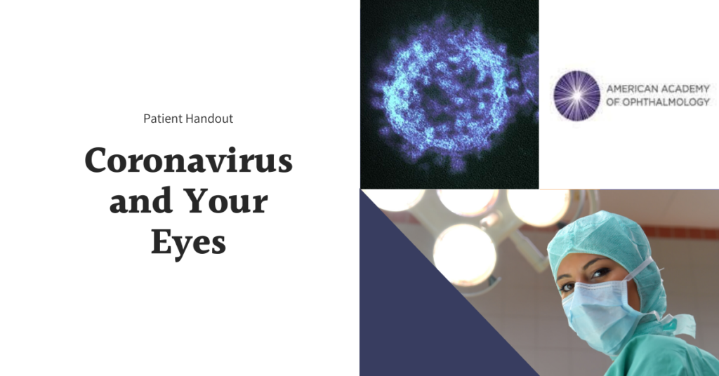 Featured Image Coronavirus and Your Eyes | AAO Handout